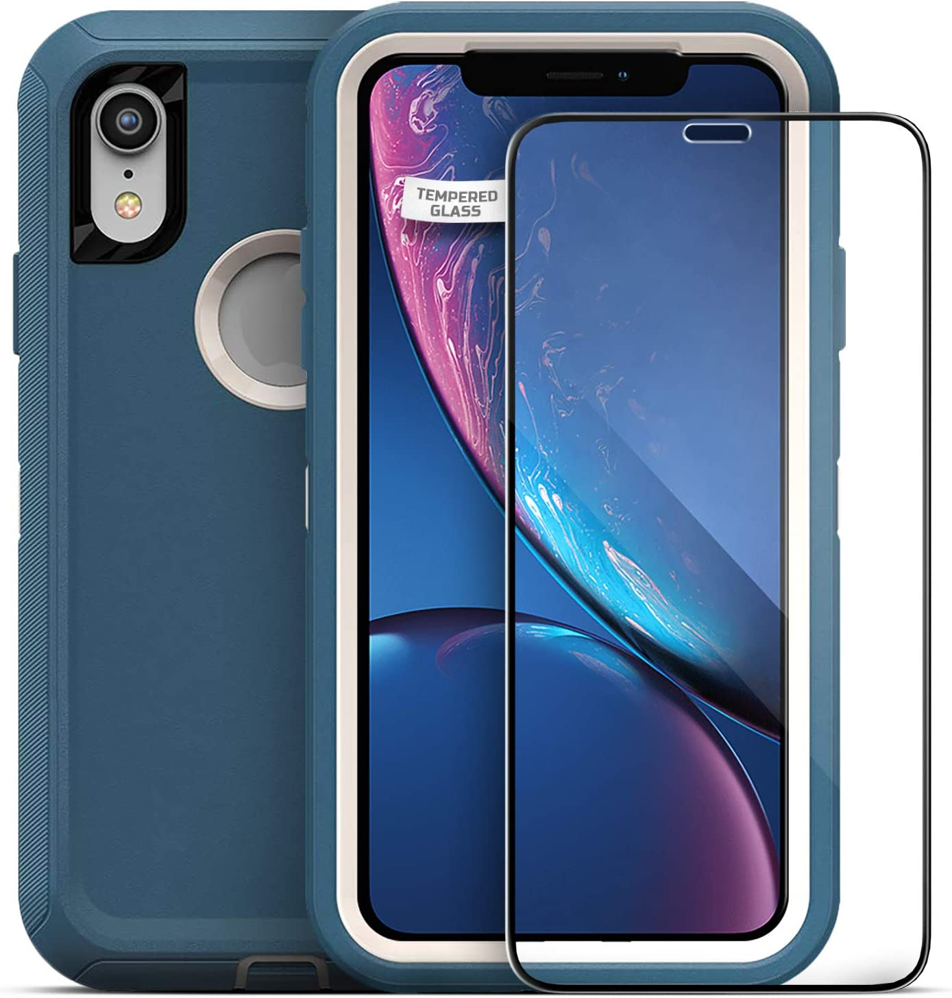 "Magglass Tempered Glass Screen Protector for Otterbox Defender Series - iPhone XR 6.1"" (Case is NOT Included)"