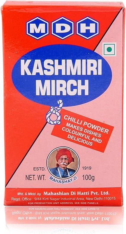 MDH Kashmiri Mirch, 100g Carton