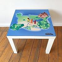 """playmatt Spielmatte für Tisch oder Boden """"Kleiner Drache Kokosnuss Dracheninsel"""", schadstofffrei, Rutschfest, waschbar, 55 x 55 cm, IKEA Lack Tisch"""