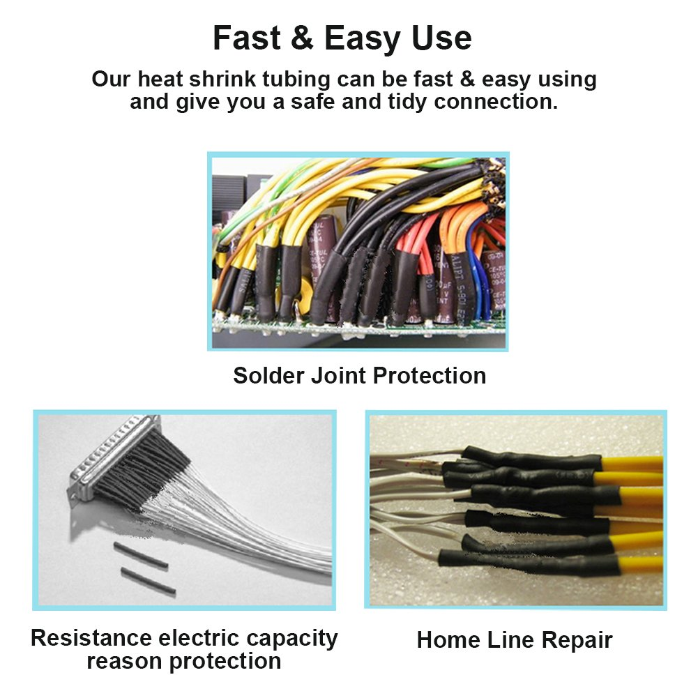 130 Pcs 31 Dual Wall Adhesive Heat Shrink Tubing Kit 6 Sizesdia Wiring Money Safely 1 2 3 8 4 16 32 Best Cable Sleeve Tube Assortment With Storage