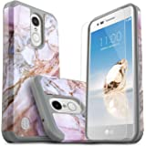 LG K20 V Case, LG Harmony Case, LG K20 Case, LG Grace LTE Case, LG K20 Plus Case, Starshop [Shock Absorption] Rugged Impact Phone Cover With [Premium Screen Protector Included] (Marble Pattern)