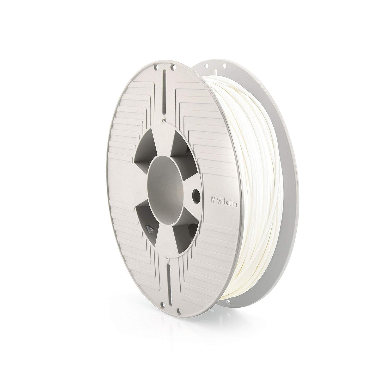 Verbatim Durabio - Filamento 3D (500 g, 75 mm), color blanco ...