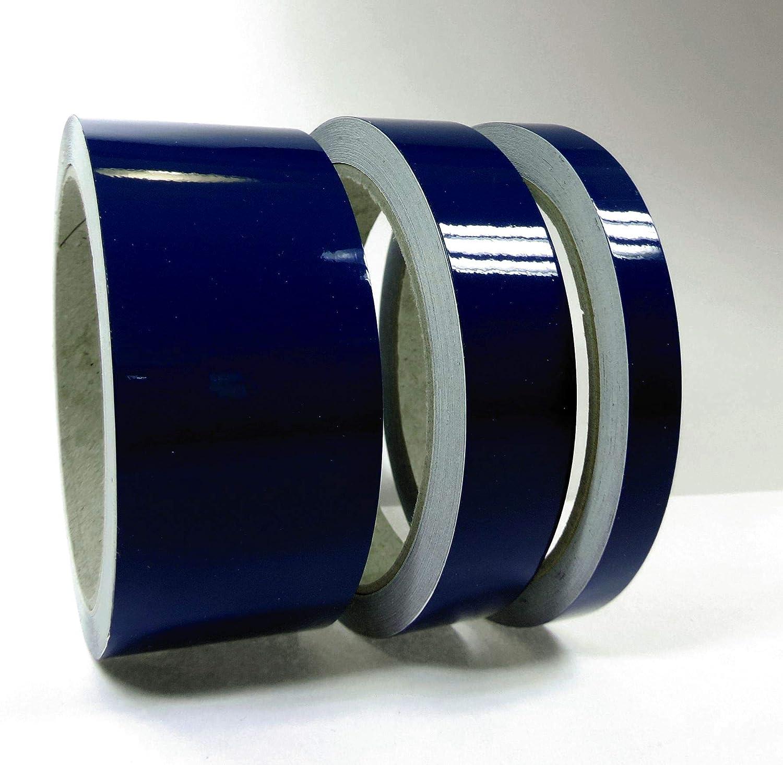 Siviwonder Zierstreifen Marineblau Glanz in 50 mm Breite und 10 m L/änge Folie Aufkleber f/ür Auto Boot Jetski Modellbau Klebeband Dekorstreifen Marine blau stahlblau