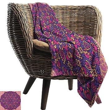 Amazon.com: Manta para el hogar, diseño de mandala, color ...