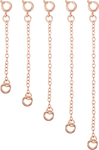 Argent or rose Extension Chaîne pour un Collier Bracelet Bracelet Extender EX63W