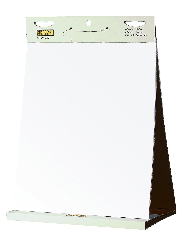 Bi-Office Blocco di Carta Autoadesivi Da Tavolo Con Strato Adesivo Riposizionabile, 20 Fogli, 70 g/mq, 500 x 585 mm BIOFFICE FL148303