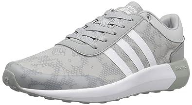 adidas Neo Women's Cloudfoam Race W Running Shoe, Clear Onix/White/White,