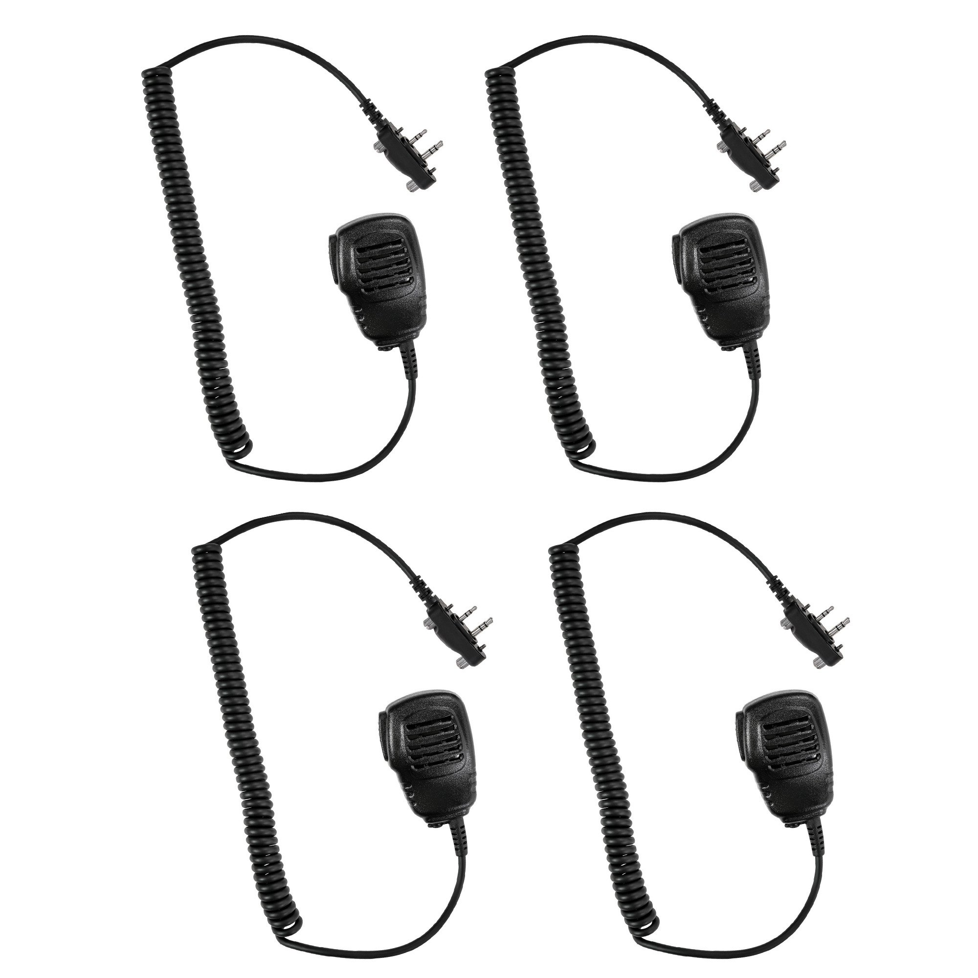 4 Pack Maxtop APM100-I2 Light Duty Shoulder Speaker Microphone for ICOM IC-F3011 IC-F4011 IC-F3021 IC-F4021 IC-F3062