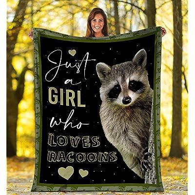 Teechopchop Just A Girl Who Loves Raccoons Raccoon Ultra Soft Cozy Plush Fleece Blanket: Home & Kitchen