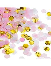 Faburo 14000 Pièces Papier Confetti Ronde Tissus Multicolore pour la Décoration De Fête d'anniversaire et Mariage