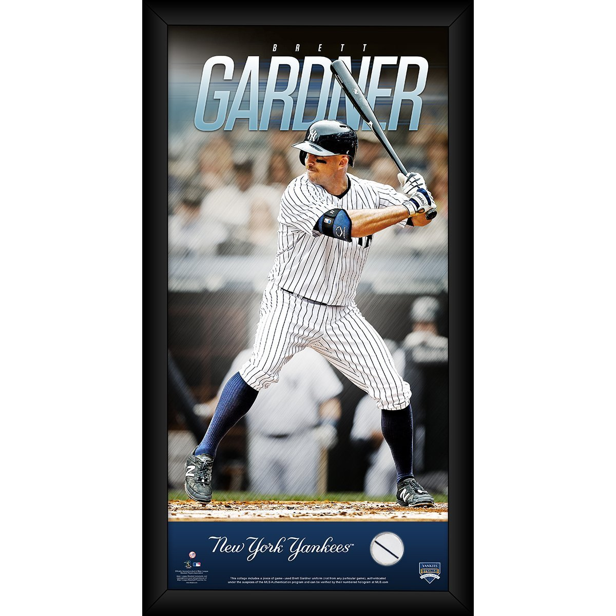 Brett Gardner New York Yankees 10x20 Player Profile with Game Used Jersey  Swatch at Amazon s Sports Collectibles Store e1b867975e5