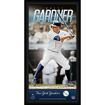 Brett Gardner New York Yankees 10x20 Player Profile with Game Used ... c12602933ec