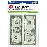 Learning Resources Play Money Smart Pack 【英語玩具 お金 ドル】 アメリカ通貨 紙幣ミニセット(100枚入り) 正規品