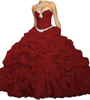 ece41e8c4fa PromQueen Women s Beaded Ball Gown Sweet 16 Dresses Princess Quinceanera  Dresses