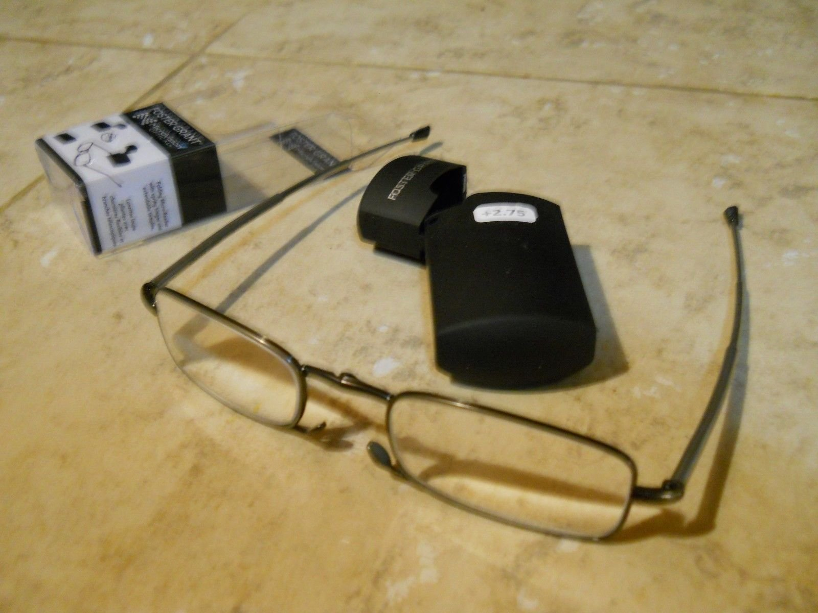 cb539edffa9 MicroVision Optical By Foster Grant Compact Folding Reading Glasses Gideon + 2.75 strength