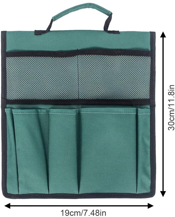 0,5 cm Sarplle Garten Werkzeugtaschen aus 600D Oxford Tragbar Gartenwerkzeug Aufbewahrungstasche mit mehrere Taschen 30 19
