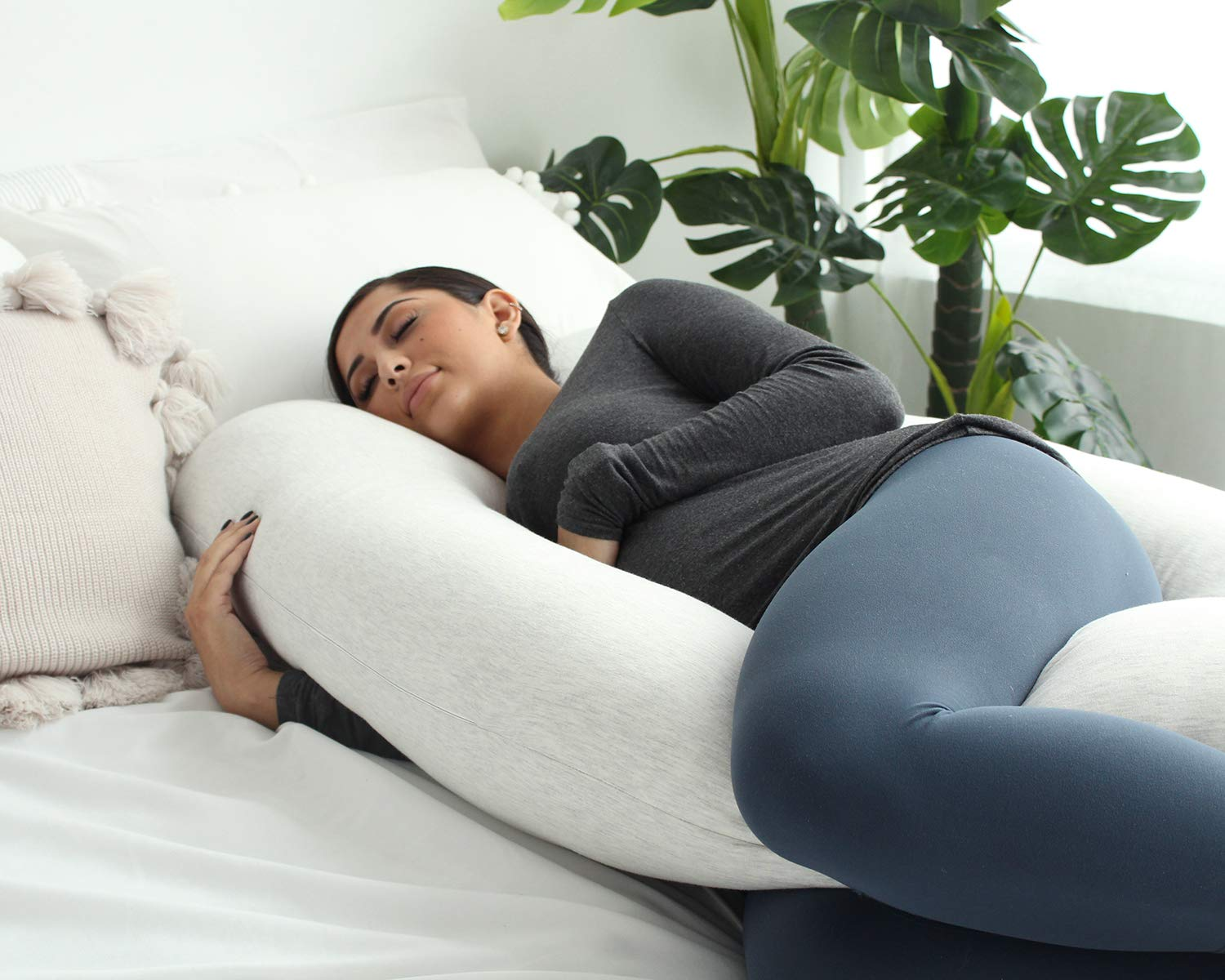 PharMeDoc Pregnancy Pillow, U-Shape Full Body Pillow and Maternity Support with Detachable Extension - Support for Back, Hips, Legs, Belly for Pregnant Women by PharMeDoc (Image #3)
