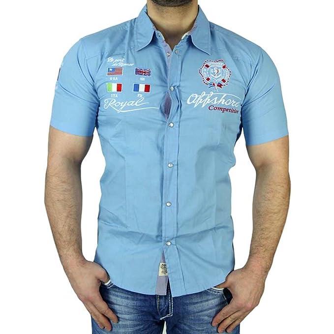 Baxboy Hombre Polo Polo Camisa Polo - Camiseta para el Ocio Manga ...