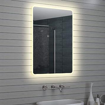 Lux Aqua Design Miroir Mural Miroir Lumineux A Led Pour Salle De