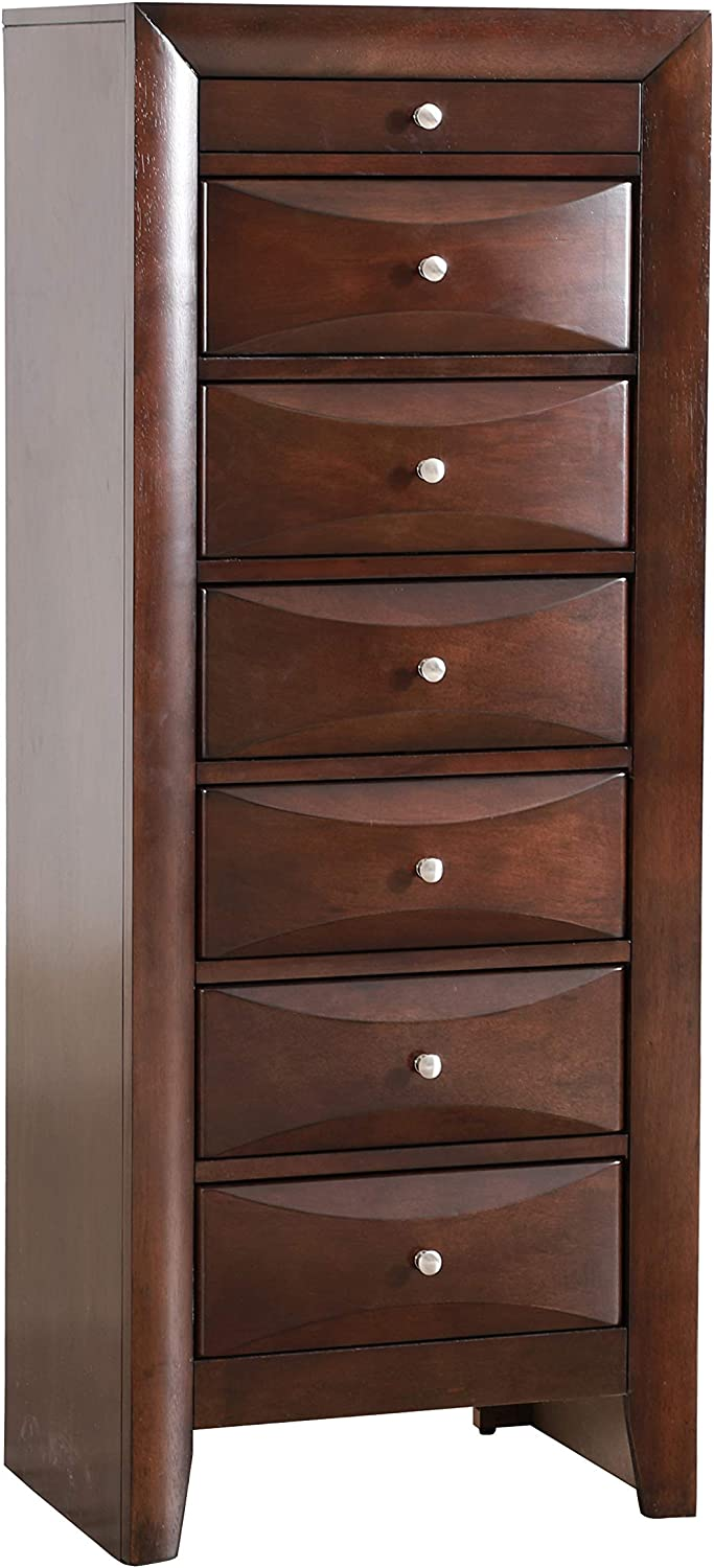 Amazon Com Glory Furniture 7 Drawer Lingerie Chest Cappuccino