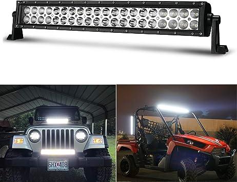 22inch 120W LED Light Bar SPOT Beam Offroad Ford Jeep Truck SUV ATV 4WD Fog RZR
