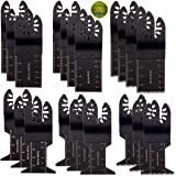 20PCS Oscillating Saw Blades, CBTONE Metal/wood Universal Multitool Quick Release Saw Blades Kit for Fein Multimaster, Black & Decker, Bosch, Dremel, Craftsman,Dewalt, Rockwell, Chicago