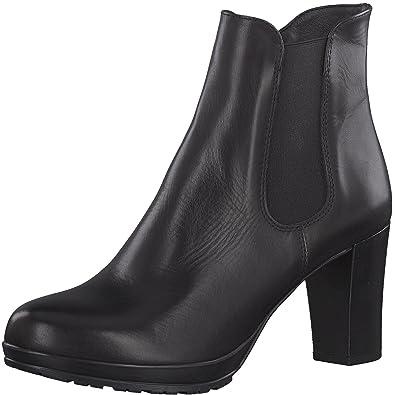 a75c873978799 Tamaris Damen Stiefelette 25090-21,Frauen  Stiefel,Boot,Halbstiefel,Damenstiefelette,Bootie,hoch,High  Heel,Party,Trichterabsatz 8cm