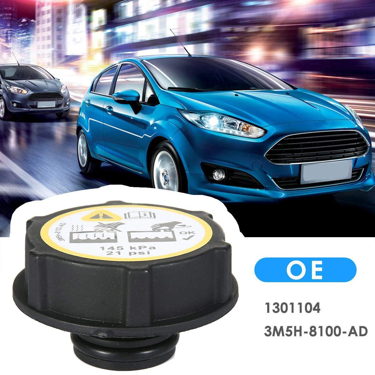 DokFin Tapa de Tanque de Expansi/ón Tapa del Radiador para Ford//Focus//Fiesta//C-MAX//Mondeo//Transit #1301104 3M5H-8100-AD, Negro