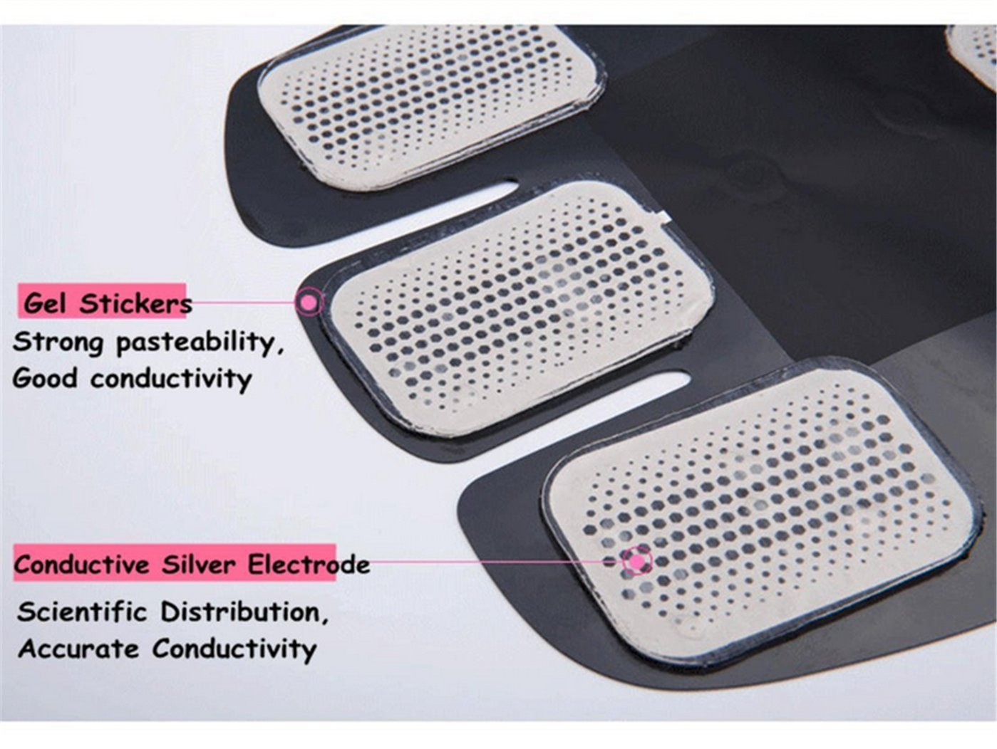 BOZHOO EMS Trainning,Muscle Stimulator Electronic Muscle Stimulation EMS Training Device Fitness Electrostimulator Muscle Training Man//Woman Massage Belt Abdomen Arms Legs and Body for All Sizes