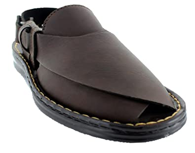 9816ef76e9034e Image Unavailable. Image not available for. Color: Aerosoft P0808BrownUS Men  6 Peshawari Men Original Sandals ...