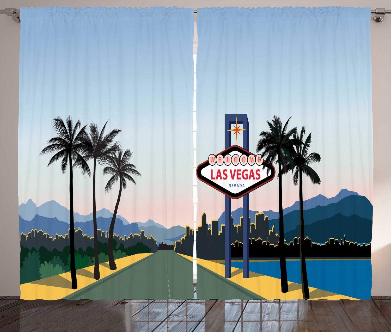 Las Vegas Duschvorhang Nevada Amerika in Cartoon