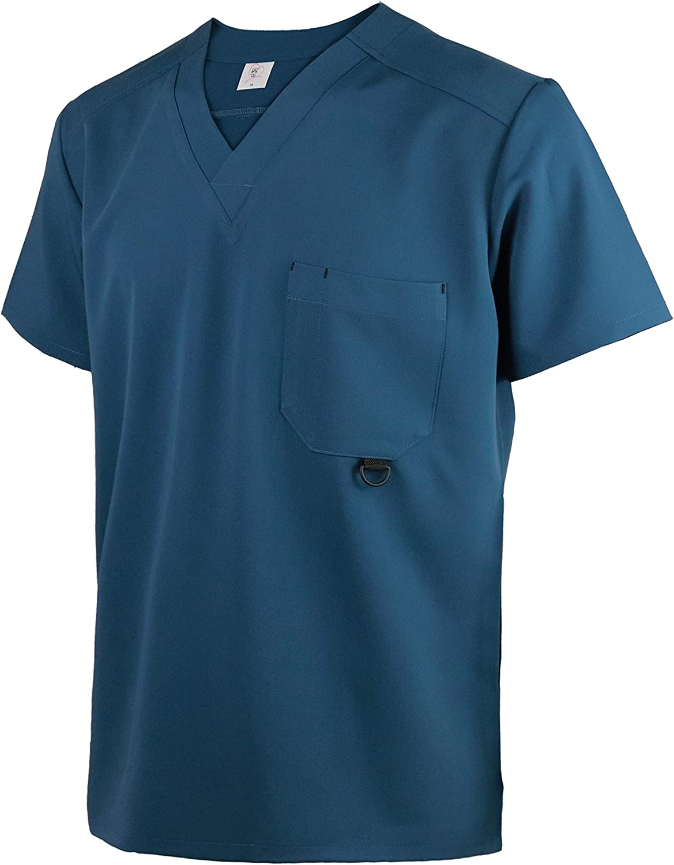 Uniforme da Lavoro Blusa Maschile per Estetiste Cuochi JONATHAN UNIFORM Uomo Camicia da Lavoro Elastica a Manica Corta