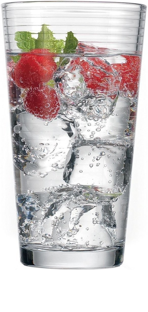 Circleware Theory Drinking Glasses, Set of 4, 15.75 Ounce