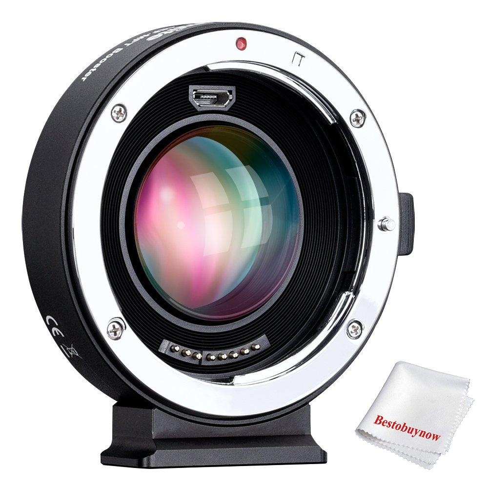 Commlite aef-mftブースター0.71 X焦点レジューサブースターAFレンズマウントアダプタfor Canon EFレンズto Panasonic / Olympus m4 / 3カメラEnlarge絞りSpeed Booster with USBポートを更新gh4 gh5 gf6 gf1 GX   B07BLQCNCQ