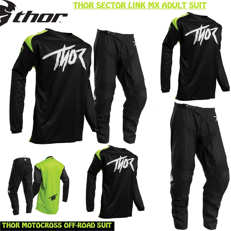 Traje de Moto para Adultos Thor Sector Link MX Cross Jersey y ...