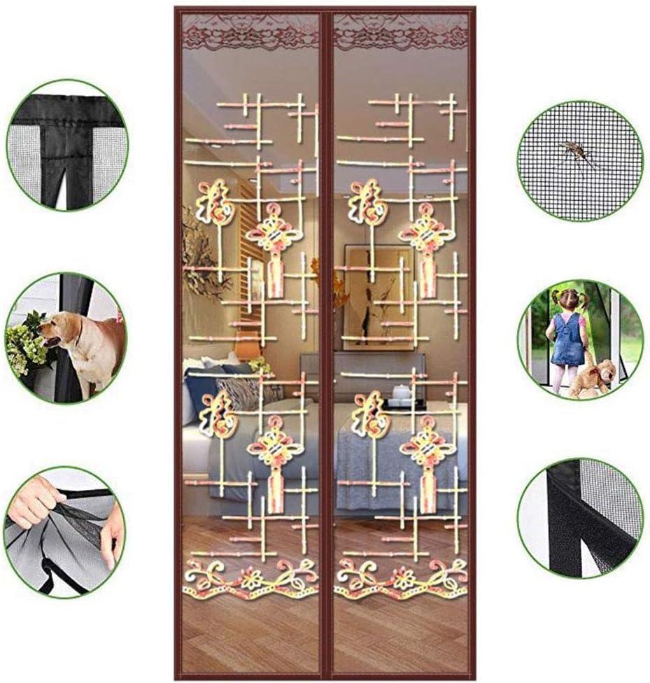 QXMJ Cortina De Malla Cortina De Pantalla Manos Libres Mosquiteras Bug Net para Puertas Cerrar Puertas Automáticamente con El Magnetismo-d 130x200cm(51x79inch): Amazon.es: Hogar