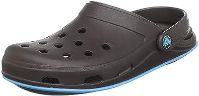 crocs CrocsTone TM Skylar Clog 11414, Damen, Clogs & Pantoletten, Braun (Espresso/ElectricBlue), EU 33/34 (US W4)