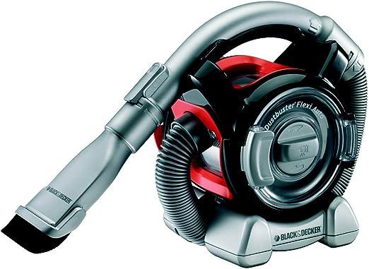 Black & Decker PAD-1200 - Aspirador de Mano para Coche,12 V, Tubo con opción de 2 Cabezales, Color Negro y Rojo: Amazon.es: Coche y moto