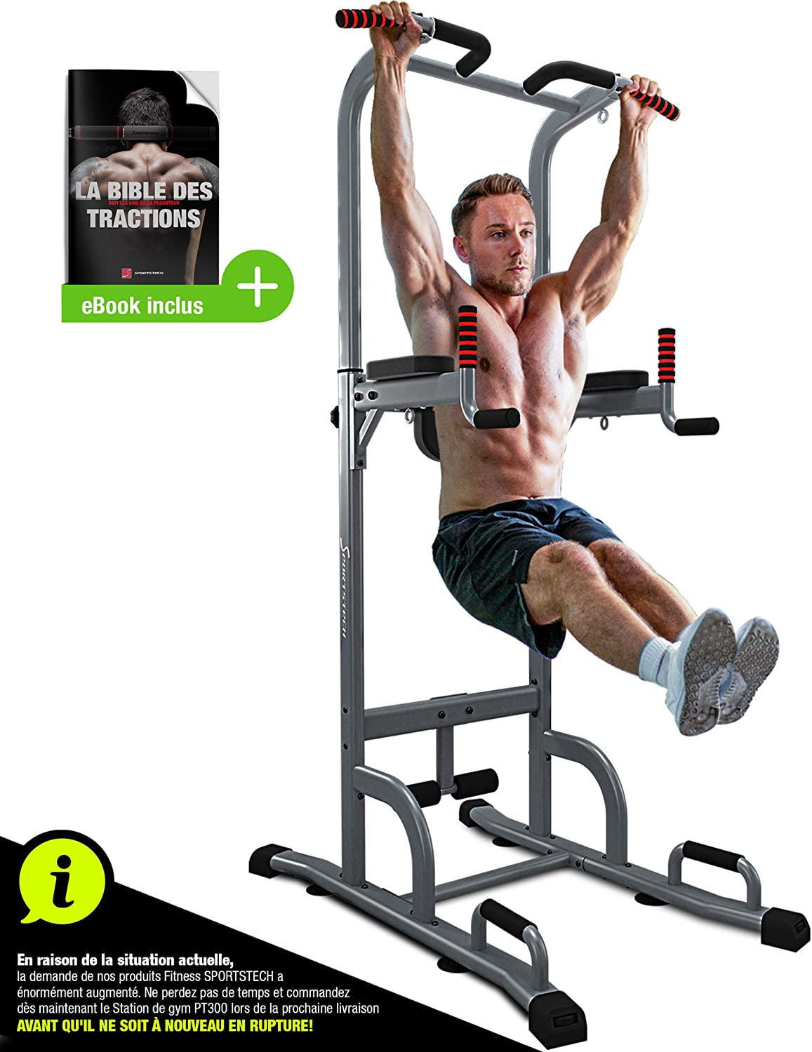 Sportstech PT6 6 in 6 Roman Chair Power Tower Bodybuilding  Multifunctional Pull Up Bar Dip Station Abdominal Armrests Handles for Pump  Fitness TRX