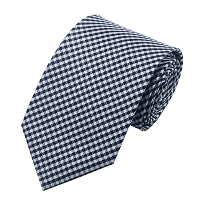 Corbata de cuadros para hombre 100% seda, con diseño italiano ...