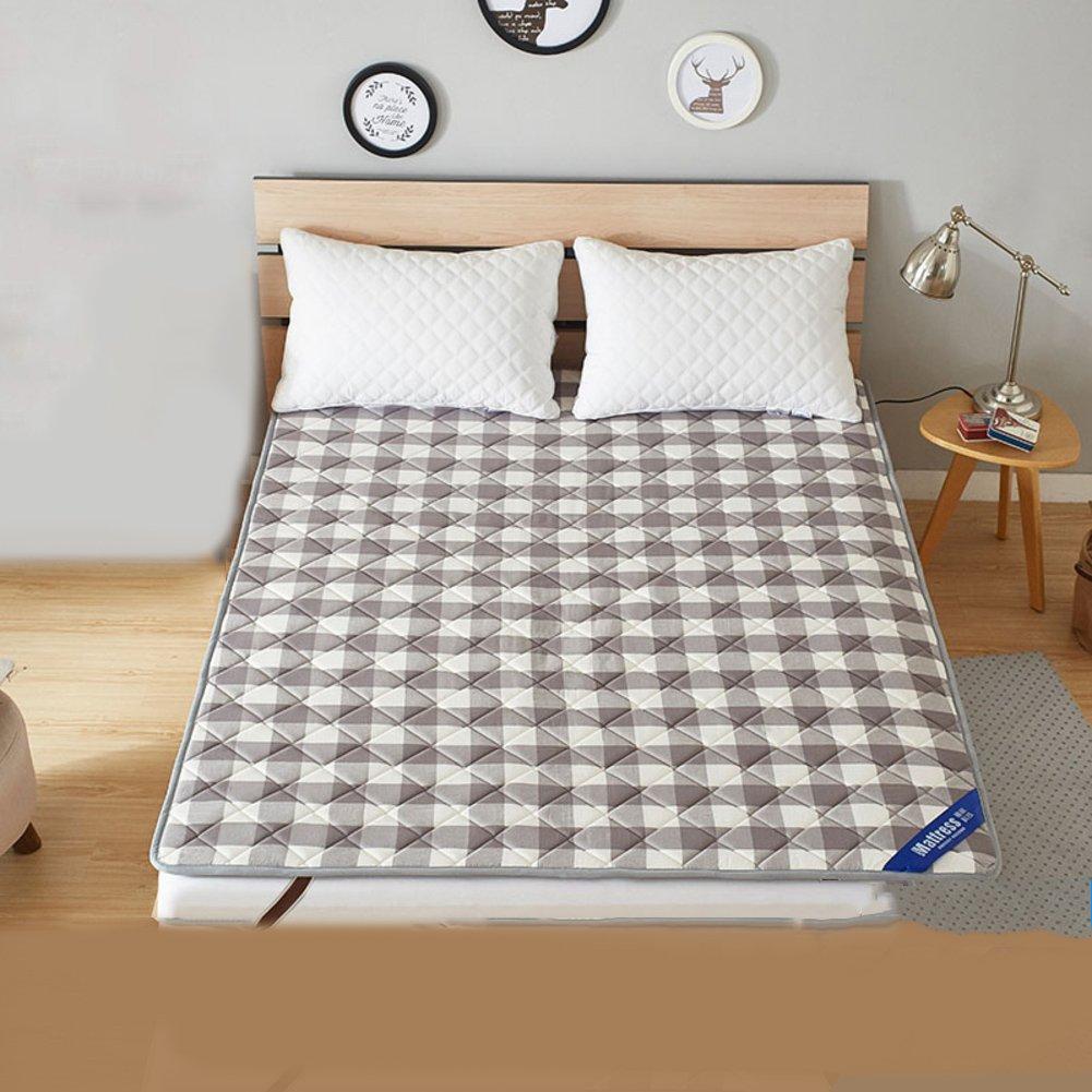 LJ&XJ 綿畳マットレス,折り畳み式ダブルベッド マット滑り止めスポンジ ベッド マットレスを薄い,収納に便利な洗濯機,厚さ 2 cm-A 135*198cm B07CKMVZSF A 135*198cm