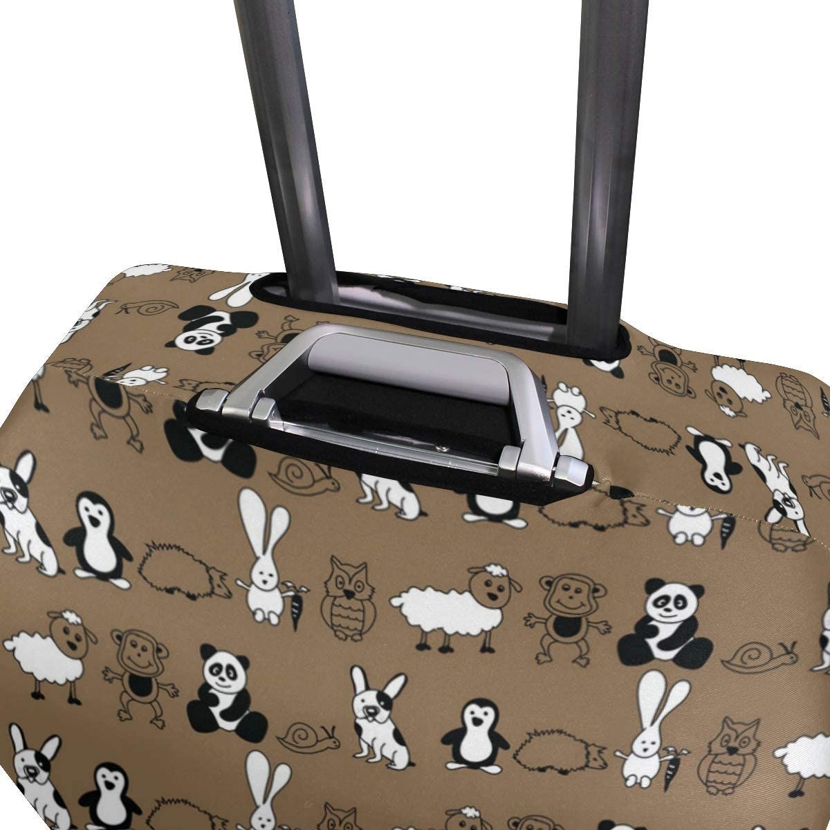 Rabbit Panda Monkey Penguin Travel Luggage Protector Case Suitcase Protector For Man/&Woman Fits 18-32 Inch Luggage