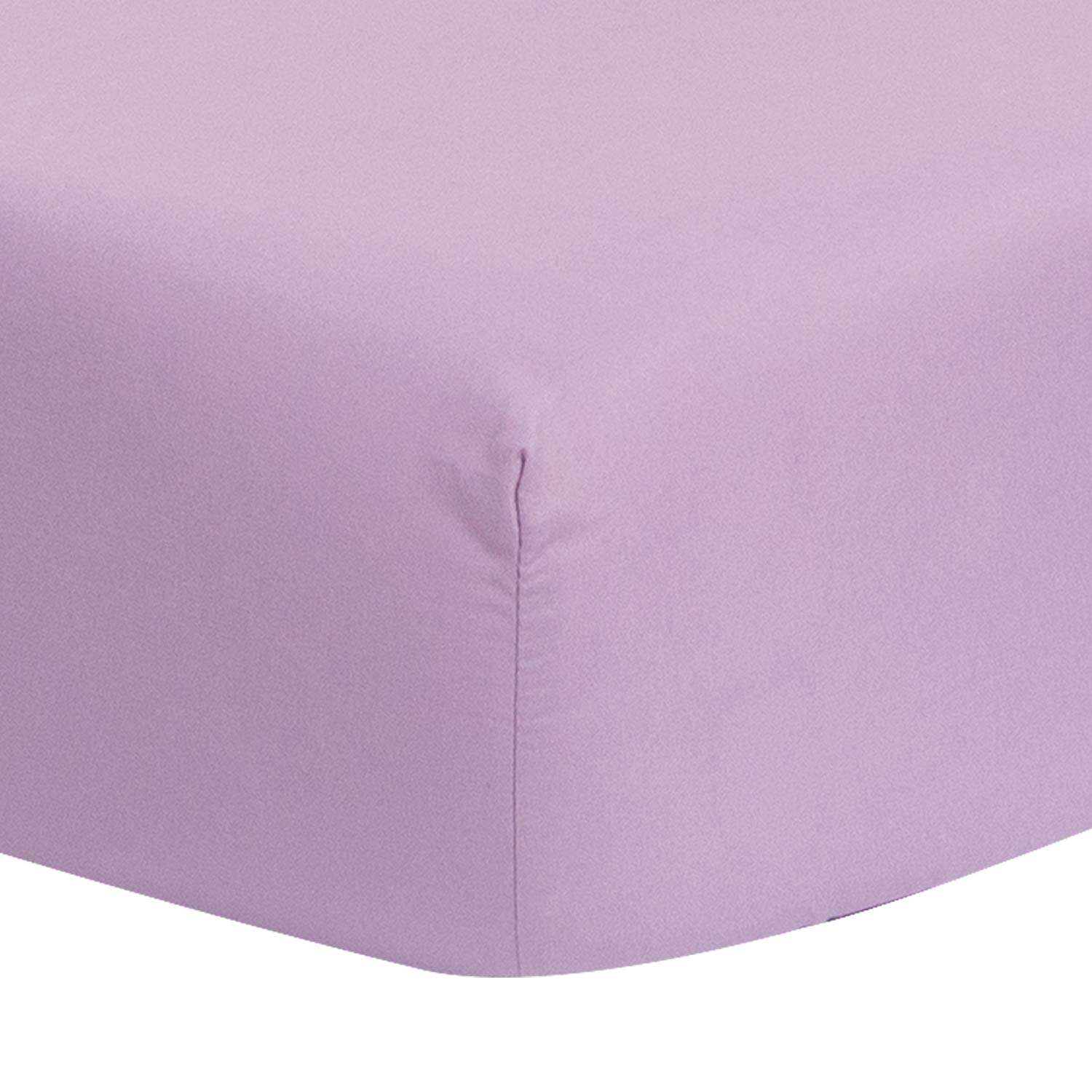 TILLYOU Silky Soft Microfiber Crib Sheet, Breathable Cozy Toddler Sheets for Girls, 28 x 52in Fits Standard Crib & Toddler Mattress, Lavender