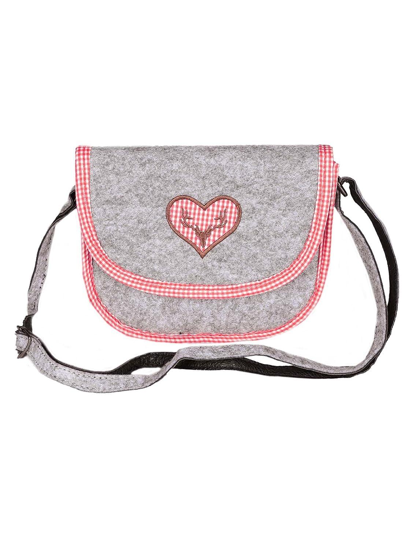 Filztasche Handtasche bestickt Edelweiß Damentasche Tasche Tracht  Umhängetasche