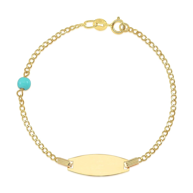 UNICORNJ 14K Gold Chain ID Bracelet 6 Italy UJB-9002-14W