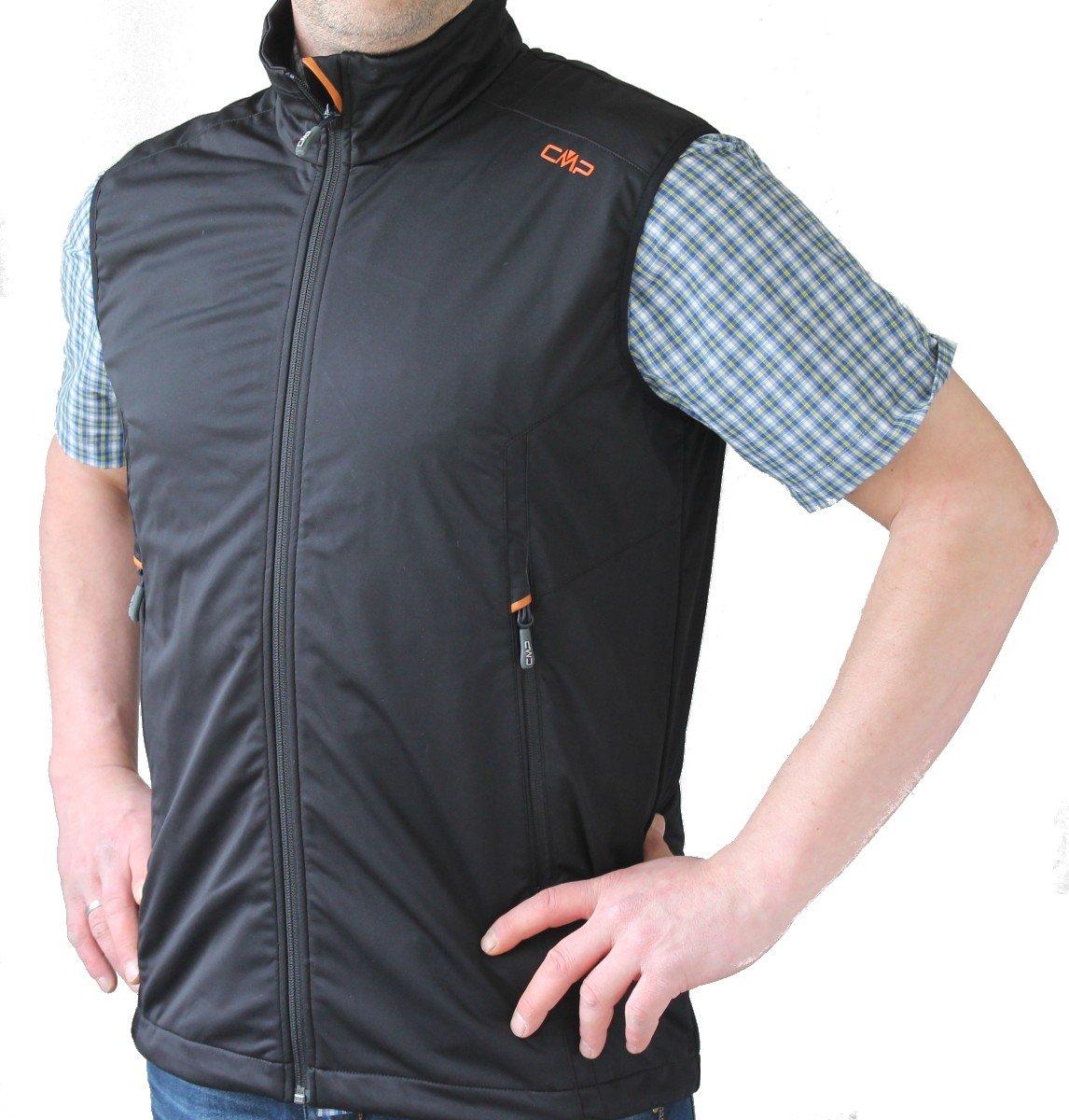 Campagnolo Man Softshell Vest / Weste, nero - schwarz