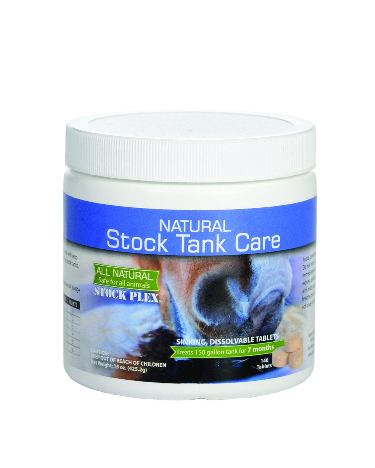 Natural Stock Tank Care - All Natural Stock Tank Cleaner - 7 Month Supply - Safe for all livestock and wildlife