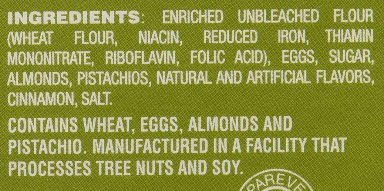 Pistachio Almond Thins Crunchy Cookies, 23 count, 1.17 lb (529g)