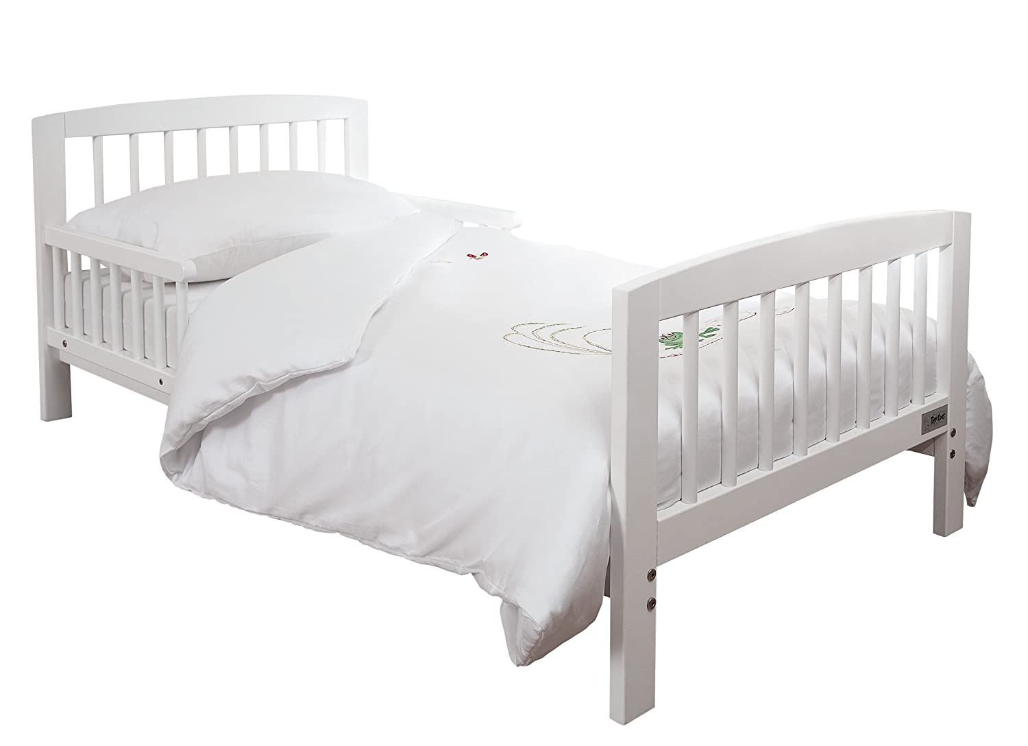 Baby cot with mattress gulliver bed frame and guard rail for Lit junior ikea