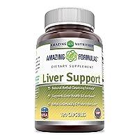 Amazing Formulas Liver Support 120 Capsules(Non-GMO,Gluten Free) Natural Herbal...